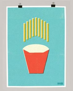 design work life » cataloging inspiration daily #screen #print #fries #food