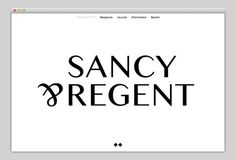 Sancy & Regent (cool parallax scrolling effects) #website #design #web