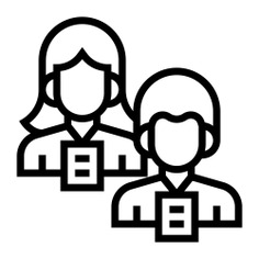 See more icon inspiration related to woman, man, participant, business and finance, employment, lecturer, lecture, badge, communicate and connection on Flaticon.