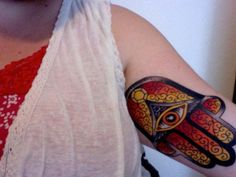 30 Cool Hamsa Tattoo Ideas with Meanings #ideas #tattoo #hamsa