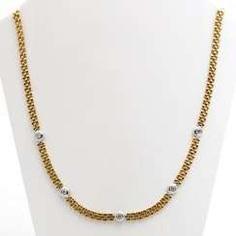 Necklace with 5 diamonds