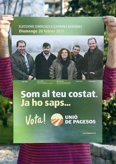 "UNIÃ"" DE PAGESOS CAMPAIGN on the Behance Network #branding #campaign #direction #poster #art #politics"
