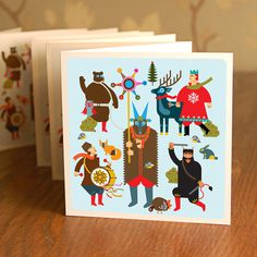 CHRISTMAS CARD / STRZECHA DESIGN on the Behance Network #christmas