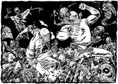 RUDO+TITAN vs los muertos vivientes on Behance
