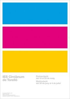 Poster IES | Flickr - Photo Sharing! #swiss #grid #poster #cmyk #helvetica