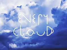 Every Cloud - A science screenprint by Joseph Perry #typography #science #print #weather #cloud #poster #geometry #blue #white #sky #symbol