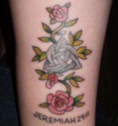 celtic rose tattoo