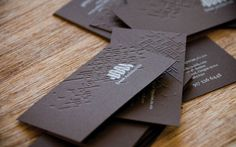 Doon Architecture Business Card Design Inspiration | Card Nerd #card #embossed #business
