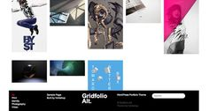 Gridfolio Alt. - Minimal Portfolio Theme for WordPress #portfolio #design #based #website #grid #photography #minimal #art #wordpress