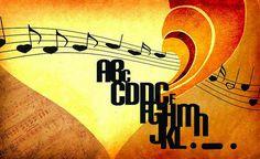 tipofonia   Flickr #heart #illustration #music #typo #typography