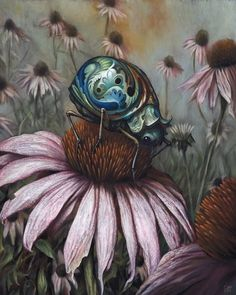hello #beetle #esao #andrews #painting