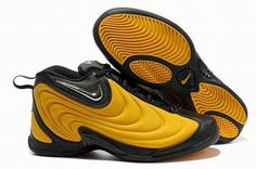2012 New Nike Air Flightposite Yellow/Black Men's #shoes