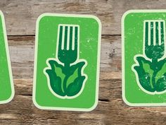 Dribbble - Growfood by gil shuler #carolina #cabbage #growfood #logo #fork