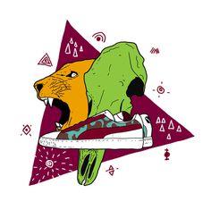 Franco Giovanella Portfolio - Ilustração #wild #illustration #sneaker #puma #skull