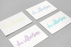 Design Work Life » cataloging inspiration daily #business #card #identity #branding