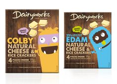 Dairyworks - Brother Design #edam #cheese #crackers #illustration #colby