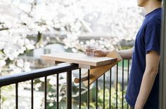 Having a drink on the patio? Rest your glass on the SKYDECK as you look over the view beyond your patio railing.