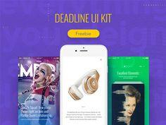 Deadline UI Kit #workflow #mobile #app #ui #kit