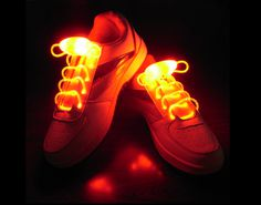 Red Flammi LED Shoelaces Light Up Shoe Laces