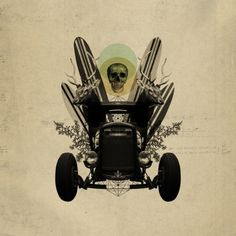 Creative Buck | †ransmission #surf #design #poster #skull #car