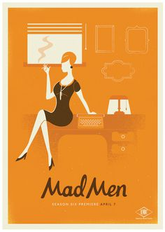 Mad Men Season 6 #vector #retro #illustration #tv #men #poster #mad