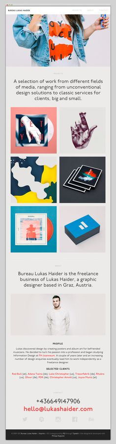 Bureau Lukas Haider #layout #website #web #web design #newsletter