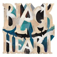 Typeverything.com -Â Black Heart lettering by... - Typeverything #type #lettering