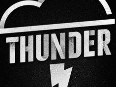 thunder #flat #font #white #black #type #noise