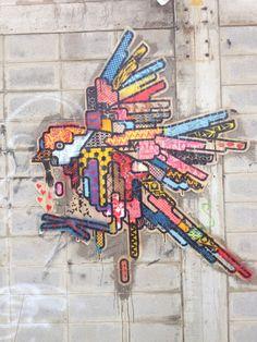 #rukkit #streetart #wheatpaste