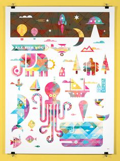 Baby_Poster_1 #yeti #color #all #poster #bigfoot #animal