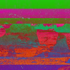 """Default Mode Network"" #2012 #landside #nature #glitch #multicolor #artificial #artowrk"