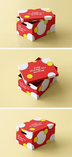 Free Storage Box #Mockup #psd