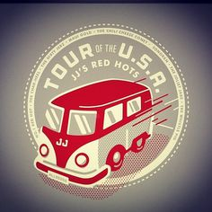 Instagram #bus #red #stevens #matt #logo #jjs #gray #usa #tour