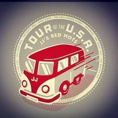Instagram #bus #red #stevens #matt #logo #jjs #gray #usa #tour