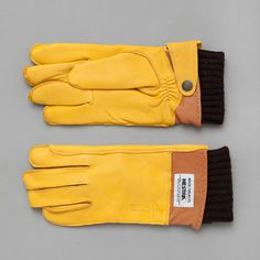 Norse Projects Ivar Glove in Yellow #gloves