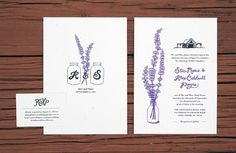 Wedding Invitations - Delane Meadows #invite #print #invitation