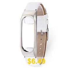 Fashion #PU #Wristband #for #Xiaomi #Mi #Band #2 #- #WHITE