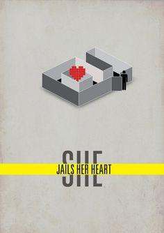 All sizes | she jails her heart | Flickr - Photo Sharing! #heart #pictogram #jail #poster #love