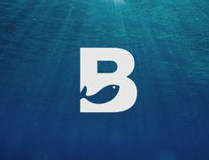 Benito Díaz #design #logo #white #fish #water #seabed #benito diaz