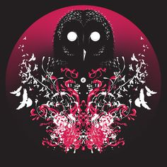 We Came At Night #erdokozi #red #owl #white #death #black #silence #night #birds #attack #erik #splash #organic