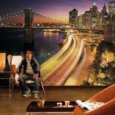 NYC Lights Mural #tech #flow #gadget #gift #ideas #cool