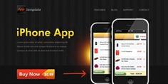 Iphone app website template Free Psd. See more inspiration related to Template, Website, Iphone, App, Psd, Templates, Website template and Horizontal on Freepik.