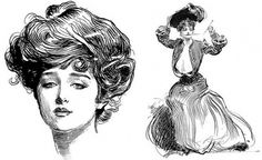 How To Tackle A Gibson Girl « THE VINTAGE SHOWROOM #illustration