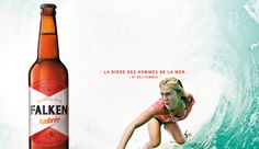 FALKEN. FRENCH BEER. AMBRÉE BOTTLE. #FRENCH#BEER