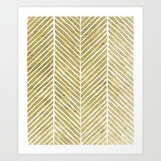 Tribal Gold Foil Chevron