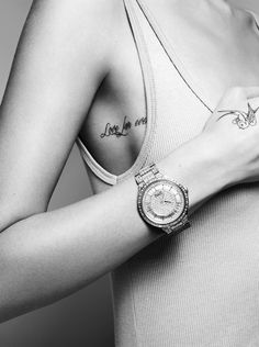 Beegee Margenyte by John Akehurst for Elle France #sexy #model #girl #look #watches #tattoo #photography #fashion #style