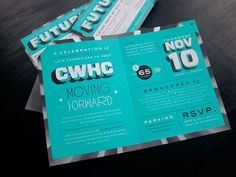 design work life » Chicago Women's Health Center Invite #type #design #graphic #typography