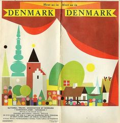 All sizes | Denmark Map | Flickr - Photo Sharing! #illustration #design #denmark #ephemera