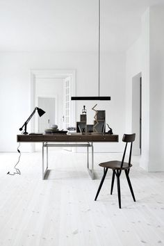 Office Wood and White #desk #wood #office #white