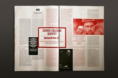 lots of text! Great use of color #print #layout #magazine